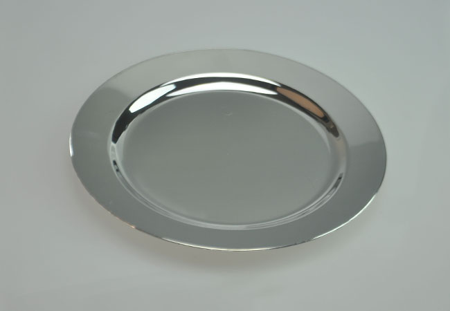 round silver plastic plate 6 ... : disposable dinner plates - pezcame.com