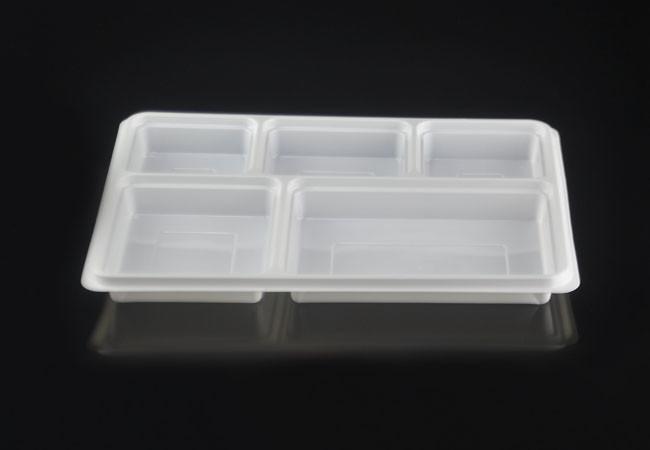 Large 5 Compartment Rectangular Disposable Plastic Plate