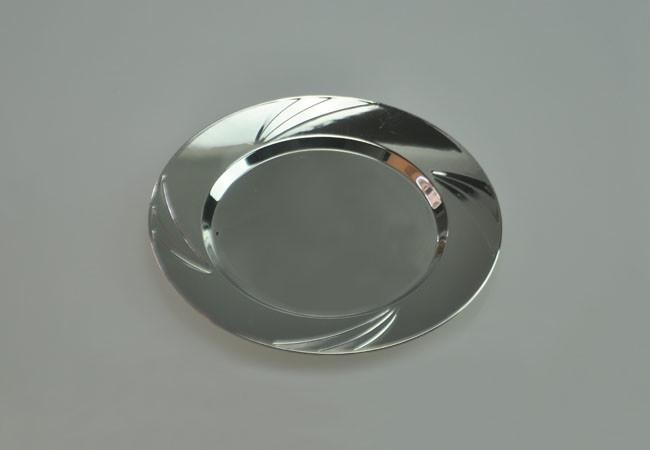 9 230mm Silver Hard Plastic Dinner Plate Apc019